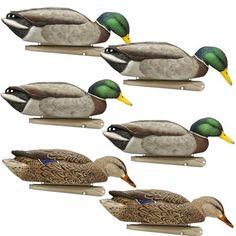 Zink Avian-X Back Water Series Topflight Mallard Duck Decoys - 6 Pack