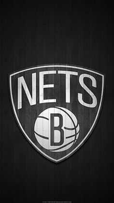 Brooklyn Nets Mobile hardwood Logo Wallpaper v1