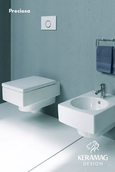 The Preciosa II collection's WC and bidet by Keramag Design UK. Find more at: http://www.keramagdesign.com/