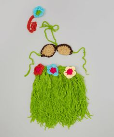 Another great find on #zulily! Green Tropical Crochet Dancing Photo Prop Set #zulilyfinds