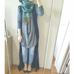Fashion Hijab Outfits Casual Muslim For 2019 Islamic Fashion, Muslim Fashion, Modest Fashion, Girl Fashion, Fashion Outfits, Fashion Muslimah, Abaya Fashion, Style Fashion, Modest Wear