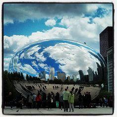 Cloud Gate ('The Bean') en Chicago, IL