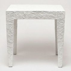 Jean Side Table - Coral White - textured plaster for a seaside beach house organic modern design Design Elements, Modern Design, Plaster Texture, White Side Tables, Seaside Beach, Organic Modern, Shades Of White, Beach House, Coral