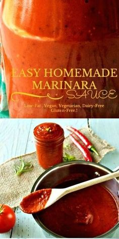 Homemade Marinara Sauce with balsamic vinegar and sun dried tomatoes is full of delicious flavor and easy to freeze and can. Pressure Canning Recipes, Healthy Holiday Recipes, Homemade Marinara, Tailgating Recipes, Marinara Sauce, Dried Tomatoes, Cooking Recipes, Sauce Recipes, Cooking Tips