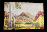 LARGE HERMANNSBURG watercolor by Namatjira style artist ADOLF INKAMALA Watercolor, Artist, Painting, Style, Pen And Wash, Swag, Watercolor Painting, Watercolour, Painting Art