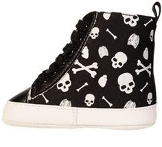 Skull and Bones Baby Shoes