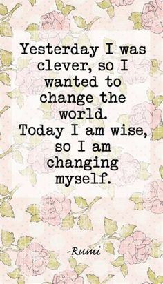 I Am Changing Myself