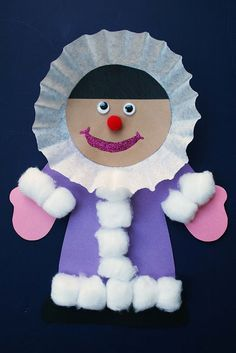 Eskimo girl craft freebie