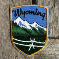 Wyoming Vintage Souvenir Travel Patch from Voyager - New In Original Package by HeydayRoadTrip on Etsy