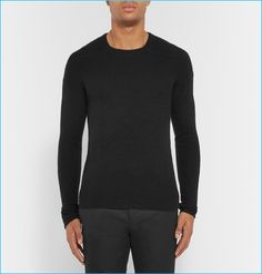 Rick Owens Ribbed Cashmere Blend Sweater