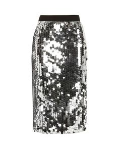3b69799e88 River Island | Metallic Silver Sequin Midi Pencil Skirt | Lyst 2017  Halloween Costumes, Silver