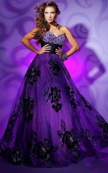 Purple A-Line/Princess Strapless,Sweetheart Empire Long/Floor-length Sleeveless Beading,Sequins Zipper Up Prom Dresses Dress