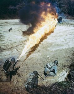 It's no way to go...  #War #WW2 #Flamethrower