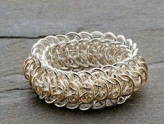 chain maille jewelry ring - Chain Maille Jewelry Making: How to Size Chain Maille Rings and Bracelets from Jewelry Making Daily #chainmaille #howtomakerings #jewelrymaking