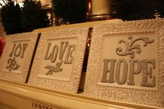 Sparkly Christmas Message Plates
