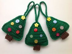 Christmas Tree Crochet Pattern Tree Ornament от AddiesKnittedGifts