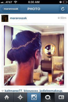 Jennifer Behr Delicate Vine Circlet worn by Zoe Saldana :: hair :: fashion :: celebrity :: beauty ::NYC