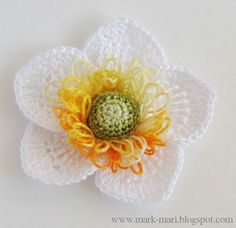 Mark-Mari: А - Анемона...beautiful flower with free graph and picture tute! I think I can figure this one out!