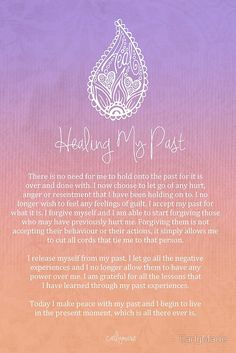 Healing Mantra by CarlyMarie. Positive Thoughts, Positive Vibes, Positive Changes, Positive Attitude, Attitude Quotes, Mantra, Motto, Reiki, Chakra Meditation
