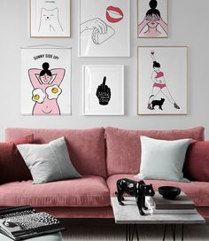 Get your hands on all new fun and quirky wall art. Calligraphy, cheeky illustrations and female empowerment are on trend this season. Shop now at Desenio. Cheer Posters, Cat Posters, Desenio Posters, Country Wall Art, Online Posters, Summer Design, Paper Frames, Modern Art Prints, Print Pictures