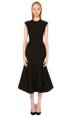 Fitted Flounce Dress by Vika Gazinskaya Now Available on Moda Operandi
