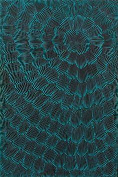 Creative Tonic loves Joy Jones Kngwarreye ~ Awelye Celerie Kemble interpreted this in a current wallpaper - dramatic and organic, Aboriginal Painting, Aboriginal Artists, Dot Painting, Encaustic Painting, Australian Art, Indigenous Art, Oeuvre D'art, Textures Patterns, Zentangle