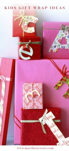 Kids Gift Wrap Ideas | Martha Stewart Living - With simple household materials and recycled items, kids can make their own gift wrap, boxes, and gift tags for the holidays.