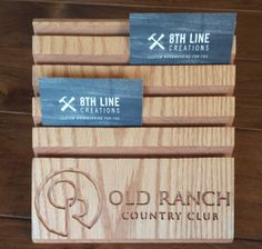 old ranch country club business card display - Business Card Display