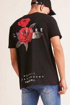 Product Name:Culture Floral Graphic Tee, Category:mens-main, New T Shirt Design, Tee Shirt Designs, Tee Design, Graphic Design, Graphic Shirts, Printed Shirts, Camisa Lisa, Apparel Design, Mens Clothing Styles
