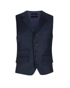 Classic smart vest - Navy   Suits   Ted Baker