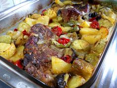 Greek Recipes, Pot Roast, Food And Drink, Pizza, Meat, Chicken, Ethnic Recipes, Greek Dishes, Easy Meals