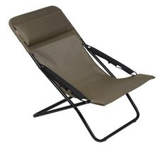 Lafuma LFM25376896 Transabed XL Plus Folding Sling Chair  Black Frame with Bronze Natural Batyline Fabric * You can get additional details at the image link.