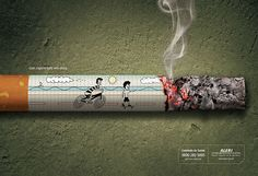 Advertising campaigns against smoking