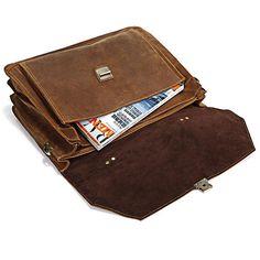 """Men's Handmade Vintage Leather Briefcase / Messenger / 15"""" 17"""" MacBook 15"""" 16"""" Laptop Bag / Travel Bag"""