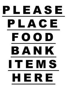 FOOD BANK Food Bank, Mood Boards, Typography, Calm, Artwork, Poster, Black, Letterpress, Work Of Art