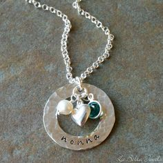 Personalized Hand Stamped Mother's Family by labellajewelsltd, $55.00