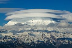 Mount Rainier, Stacked Lenticular Clouds