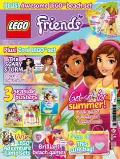 <strong>In this issue;</strong>  Get set for summer! 3 Seaside Posters  Epic puzzles  Holiday fun  Win Lego adventure camp sets!  Plus awesome Lego Beach set!