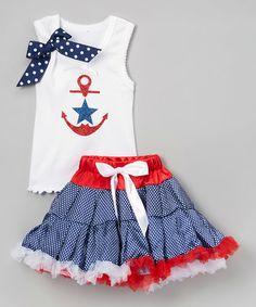 Look what I found on #zulily! Navy Star & Anchor Tank & Pettiskirt - Infant, Toddler & Girls #zulilyfinds