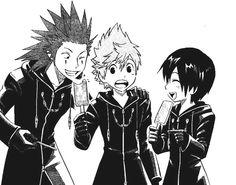 358/2 Days Trio - Roxas, Axel, and Xion