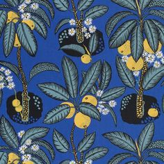 Josef Frank found inspiration for the Hawai print at the Metropolitan Museum of Art. Hawai was designed during 1943 – - Textile Hawai, Linen Hawai, Brown, Josef Frank Josef Frank, Marimekko, Upholstery Fabric Online, Textile Museum, Textile Art, Tapestry Fabric, Guache, Textile Patterns, Print Patterns