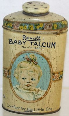 Vintage Rexall Baby Portrait 3 1/5 Oz. Baby Powder Talcum Tin Container   | Collectibles, Advertising, Health & Beauty | eBay!