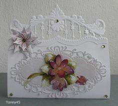 Voorbeeldkaart - bloem - Categorie: Stansapparaten - Hobbyjournaal uw hobby… Marianne Design Cards, Handmade Card Making, Step Cards, Fancy Fold Cards, Die Cut Cards, Heartfelt Creations, Pretty Cards, Paper Cards, Flower Cards