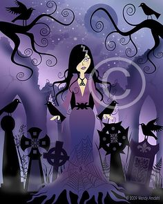 Amethyst Ravenhair, 8x10 Halloween Art 8x10 (artfulgypsy.etsy.com)