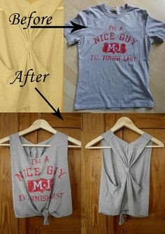 Old T shirt DIY Tanktop upcycle