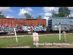 Railfanning Folkston Georgia. CSX Freight with Ringling Bros Circus flat cars and wagon loads. - YouTube