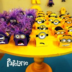 Despicable Me Minions birthday party! See more party planning ideas at CatchMyParty.com!