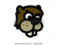 Angry Beaver Cartoon. Stock Vector Illustration 120146362 ...