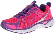 Fila Womens Threshold Running Shoe Pink Glo/Electric Purple/White 7.5 M US * Check out this great product. (This is an affiliate link) #RunningShoesIdeas