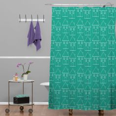 Allyson Johnson Welcome Home Shower Curtain | DENY Designs Home Accessories #denydesigns #home #homedecor #bathroom